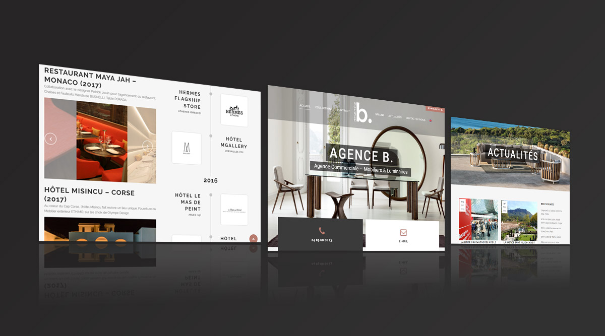 Site web Agence B